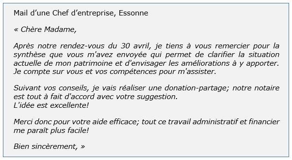 temoignage client chef entreprise Essonne